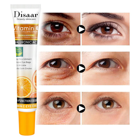 Vitamin c cream to reduce puffiness under the eyes