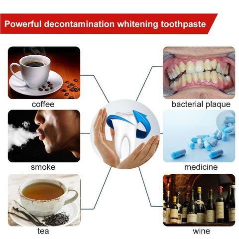 toothpaste to remove stains from coffee and nicotine