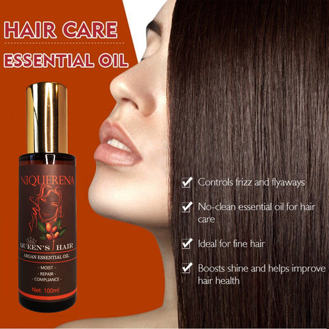 argan oil to untangle hair and strengthen thin and brittle hair