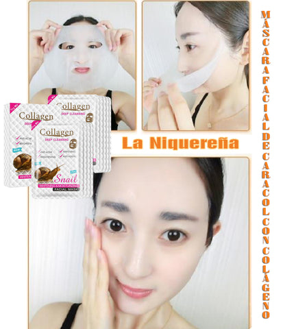 snail slime mask with collagen