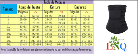 Measurement table for the reducing belt