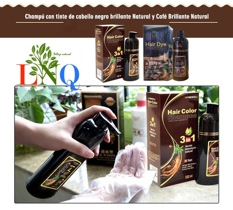 natural shampoo with dye to color the hair without damaging it
