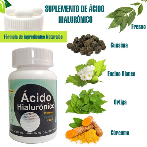 Hyaluronic acid and collagen pills