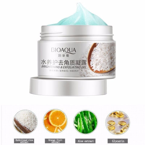 bioacua facial rice scrub gel