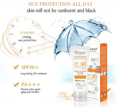 Disaar Sunscreen Cream SPF 90 Moisturizing Skin Protect