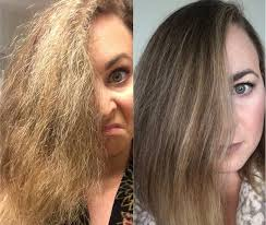 restored hair with potato shampoo