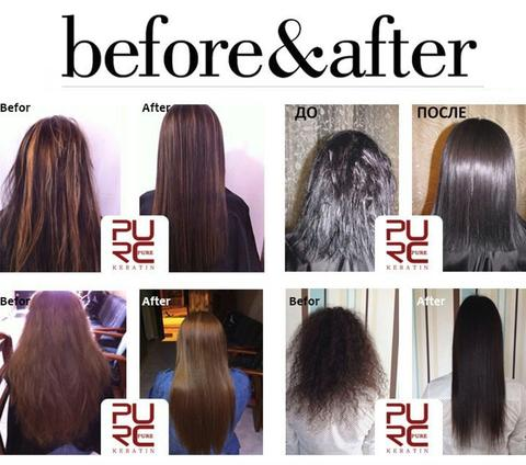 PURE natural keratin treatment result