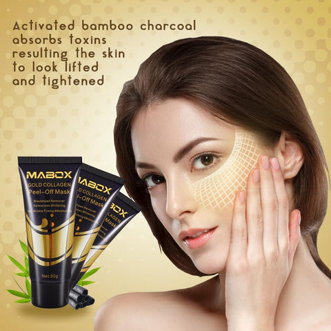 gold mask for deep cleansing of the skin