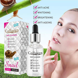 Serum for snail slime lines with collagen