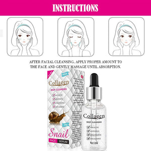 Collagen Deep Cleansing Snail Face Serum