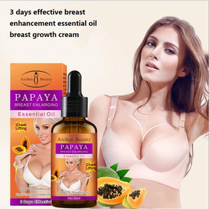 Natural papaya oil for the bust