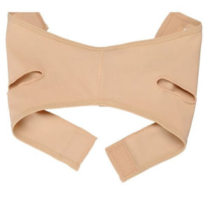 Elastic girdle to slim the face and double chin
