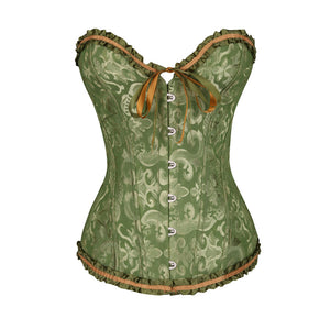 Shaping corset girdle lifts bust