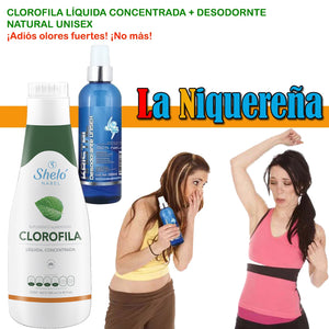 shelo nabel chlorophyll to eliminate strong odors in the armpits