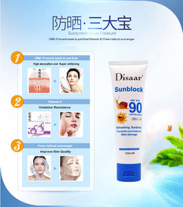 Facial and body whitening sunscreen