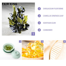 Upload image to the gallery viewer, mask to close the pores with green tea