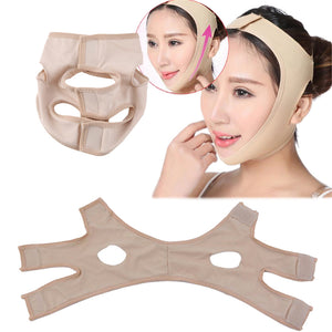 girdle to outline the face and reduce double chin