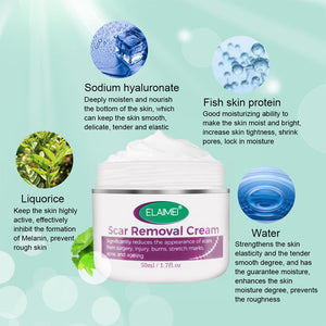Creams to remove scars from wounds, burns