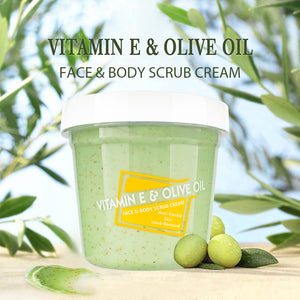 scrub cream vitamin E olive oil