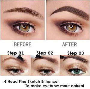 pencil for drawing large eyebrows with 3D effect