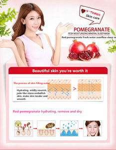 BIOAQUA Red Pomegranate Facial Mask Fruits