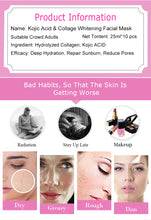 Load image in gallery viewer, illuminating mask with kojic acid and collagen