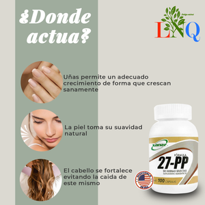 27 pp natural supplement for hair care skin and nails from xanar