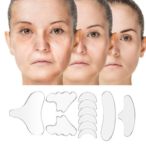 Silicone patches for silicone wrinkles