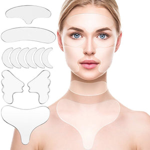 silicone parts face eye forehead neck anti wrinkle patch