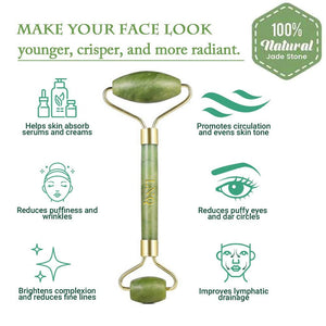 jade roller to remove bags under the eyes