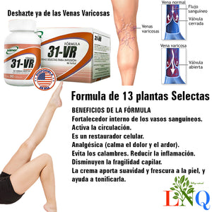 SUPLEMENTO NATURAL ANTI VARICOSO 31-VR