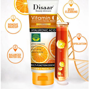 Facial cleansers with vitamin C