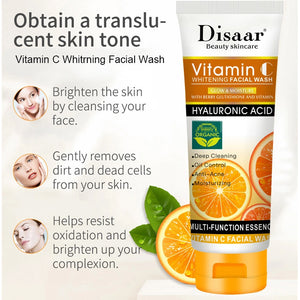 anti-blemish vitamin c cleansing foam on the face