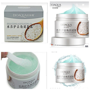 bioacua rice face scrub gel