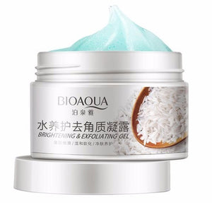 bioacua rice facial scrub gel