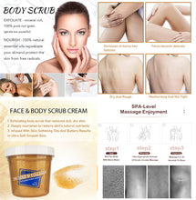 Load image into gallery viewer, 24 gold & collagen face & Body scrub cream