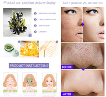 Upload image in the gallery viewer, mask to close pores of green tea