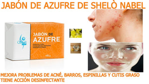 Sulfur soap for oily skin from shelo nabel