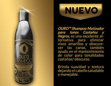 Upload image to gallery viewfinder, shading shampoo for dark brown tones Ouro