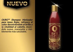 Shading shampoo for red tones brand ouro
