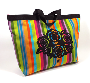 Candy Mix Stripey Bloom Shopper