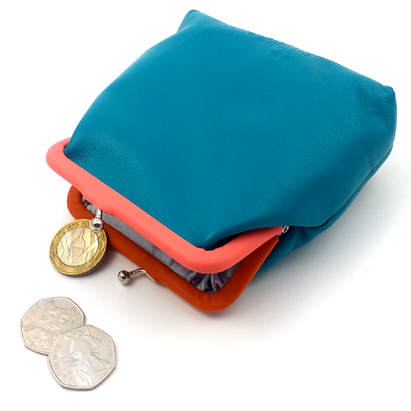 Blue Op Art Coin Purse