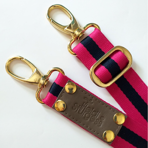 Fuchsia Stripe Bag Strap