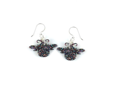 Glitter Bee Earrings