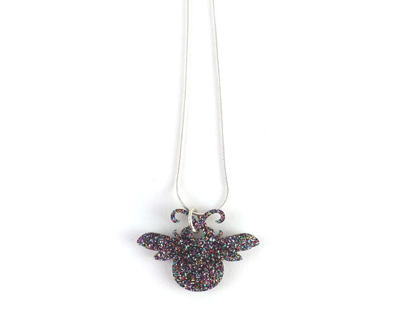 Glitter Bee Necklace