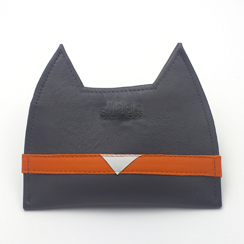 Grey Cat Card Wallet