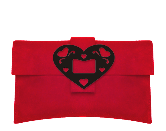 Heart Clutch Bag