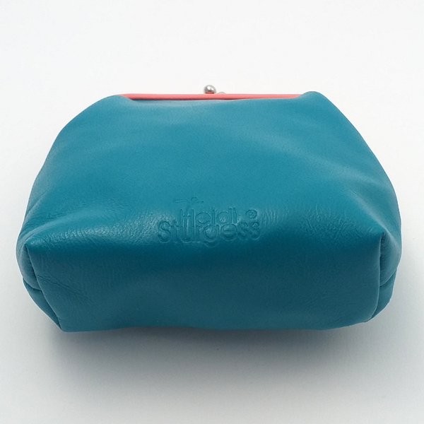 Turquoise Op Art Coin Purse