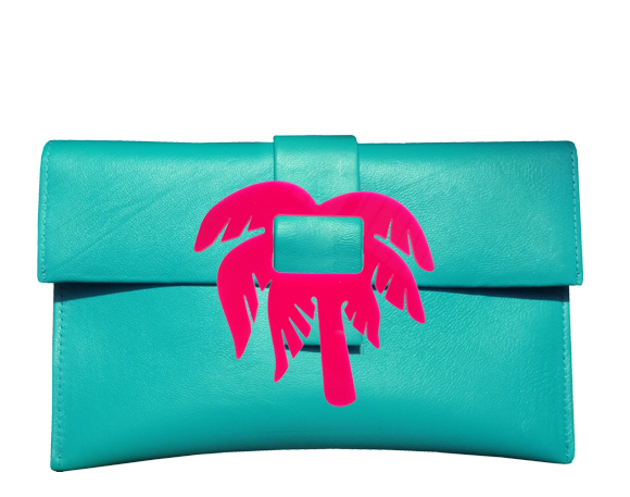 Palm Tree Clutch Bag