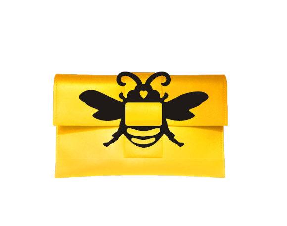Yellow Bee Purse